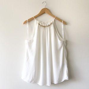 Ever New Melbourne White Sleeveless Blouse